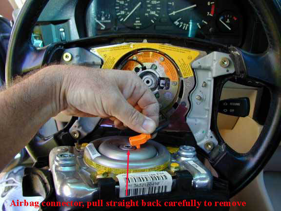 BMW E32 - Steering Wheel Removal